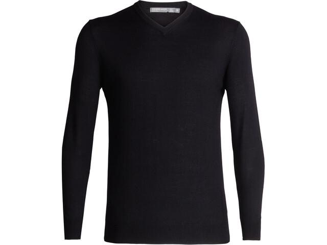 Icebreaker Shearer V-Neck Sweater Herre Black